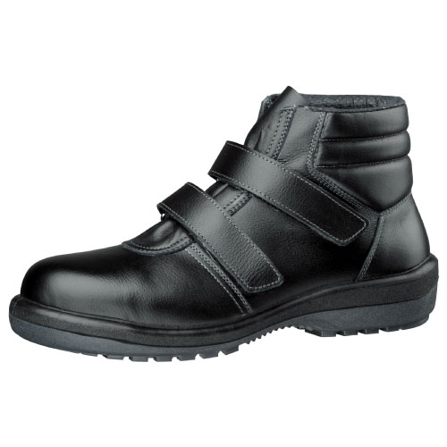 安全靴 ミドリ安全  新ラバー2層底 安全靴 中編上靴 ラバーテック RT725 ブラック