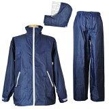 雨対策に、濡れる作業場に。 防水 雨衣 イージーレイン【お買得 かっぱ】コヤナギ 防水 レインウェア レインコート 合羽 雨衣 《二重袖&袖口調節》 EasyRain EZ-55 ネイビー【ランキング
