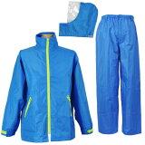 雨対策に、濡れる作業場に。 防水 雨衣 イージーレイン【お買得 かっぱ】コヤナギ 防水 レインウェア レインコート 合羽 雨衣 《二重袖&袖口調節》 EasyRain EZ-55 ブルー【ランキングに