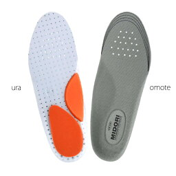 <strong>ミドリ安全</strong> インソール 中敷 靴備品 かかと衝撃吸収インソール E-01 アーチクッション 抗菌防臭 EVA[蒸れない・通気性が良い・涼しい・快適]