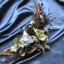 【送料無料】あまりない三日月形 ムーンリース♪アンティーク調のカラー&人気クリスマスローズ使用で数量限定!ウインターシーズン中飾れちゃう♪クリスマスにも★「ウインタームーン」リース【送料無料】