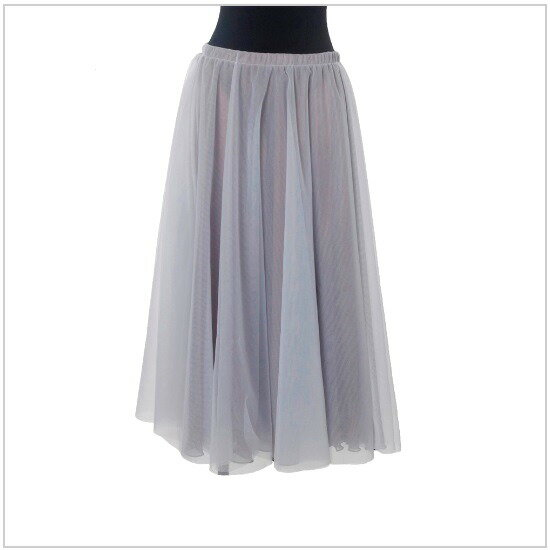 バレエ用品 ロングチュチュスカート83cm丈 エレガントなロングスカート♪<ホワイトチュールになりました♪>