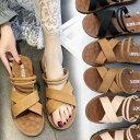 【短納期】フラットサンダル レディース 靴 歩きやすい夏の新...
