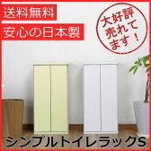 【500円クーポン配布中!】【送料無料】シンプル トイレラックS(幅30cm)