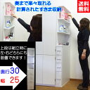 【送料無料】隙間収納 サニタリー収納 (幅25cm 奥行30cm)