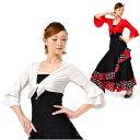 フラメンコ衣装、ベリーダンス衣装 トップス ボレロ袖2段フリル前結びタイプ ダンス用にも ミカドレス【楽天】 t10-r