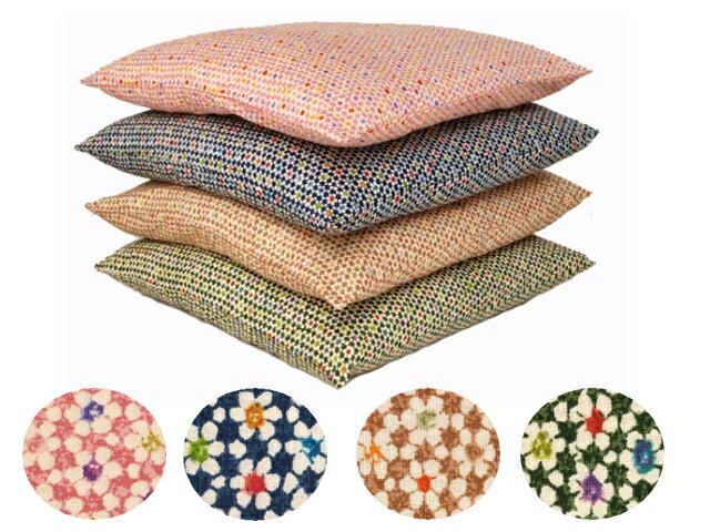 【5枚以上で送料半額10枚以上で送料無料】 日本製 綿100% ちりめん柄 座布団カバー 55×59 銘仙判 ネコポスにも対応いたします