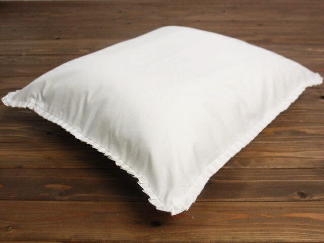 【5枚以上で送料半額10枚以上で送料無料】 綿100% フリル付き 白色 座布団カバー 55×59cm 銘仙判 ネコポスにも対応いたします