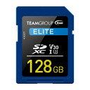 TEAM SDカード 128GB SDXC UHS-I V30シリーズ 10年保証 シンプル 大容量 メール便 おすすめ