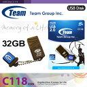 【在庫一掃SALE】【激安処分価格】 TEAM チーム USBメモリ 32GB C118 小型 ブラウン TG032GC118CT 【メール便専用】【1年保証】【レビュー記入で送料無料】 USBメモリー USB メモリ フラッシュメモリ USBフラッシュメモリ