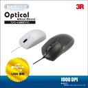 \5%クーポン付/ SALE 光学式マウス USB 接続 Keeece*キース 3R-KCMS01 ブラック ホワイト マウス レーザーマウス PCマウス パソコン PC マウス パソコンマウス かわいい おしゃれ