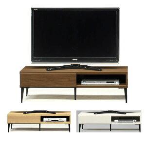 スチール脚のお洒落な日本製 120幅  TV テレビ台 3