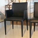 椅子 モダン 肘付き ダイニングチェア【送料無料】【さらに表示価格より3%off】 ブラック レザー デザイナーズ【PR5】
