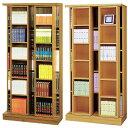 スライド書棚 2列スライド棚2箇所 幅88cm 奥行き45cm【送料無料】