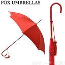 フォックスアンブレラ FOX UMBRELLAS レディース 傘 雨具 長傘 WL1/Red 350 SLIM LEATHER CROOK HANDLE スリムレザークルックハンドル 細革巻【送料無料】