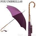 フォックスアンブレラ FOX UMBRELLAS レディース 傘 雨具 長傘 WL4/Aubergine 480 WHANGHEE CANE CROOK HANDLE ワンギーケーンクルックハンドル 竹【送料無料】