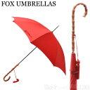 フォックスアンブレラ FOX UMBRELLAS レディース 雨傘 雨具 高級長傘 WL4/Red 350 WHANGHEE CANE CROOK HANDLE ワンギーケーンクルックハンドル 竹【送料無料】【※OI】