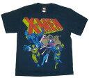 ◎X-MEN・Xメン Tシャツ【BLUE TEAM】ネイビー アメリカン雑貨・アメリカ雑貨・アメ雑
