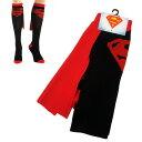 スーパーマン【 SUPERMAN 】 レディース ハイソックス 靴下『エンブレム』☆マント付☆ 【レターパックOK☆】