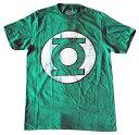【DC/ディーシー】Tシャツ 『グリーンランタン/ロゴ・かすれ(杢GR)』 GreenLantern・DCコミック・アメキャラ・アメコミ
