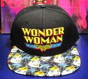 【DC】キャップ 帽子『ワンダーウーマン/ツバ 総柄』wonderwoman アメコミ アメキャラ
