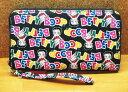 【Betty Boop/ベティちゃん】ウォレットバッグ『フチあり ロゴ ブラック』長財布・ロングウォレット・ベティブープ・ベティ・アメキャラ・財布・アメリカン雑貨