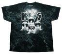 【キッス/KISS】大人・メンズ Tシャツ『スペース (タイダイ)』海外バンド・ロック・アーティスト