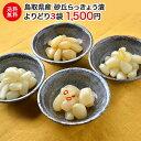 らっきょう 国産 鳥取県産 砂丘らっきょう漬け よりどり3袋×100g 送料無料 【漬物/漬