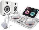 PIONEER DJコントローラーセット DDJ-WeGO4WH + DM-40 + ATH-S100【送料無料】【DZONE店】