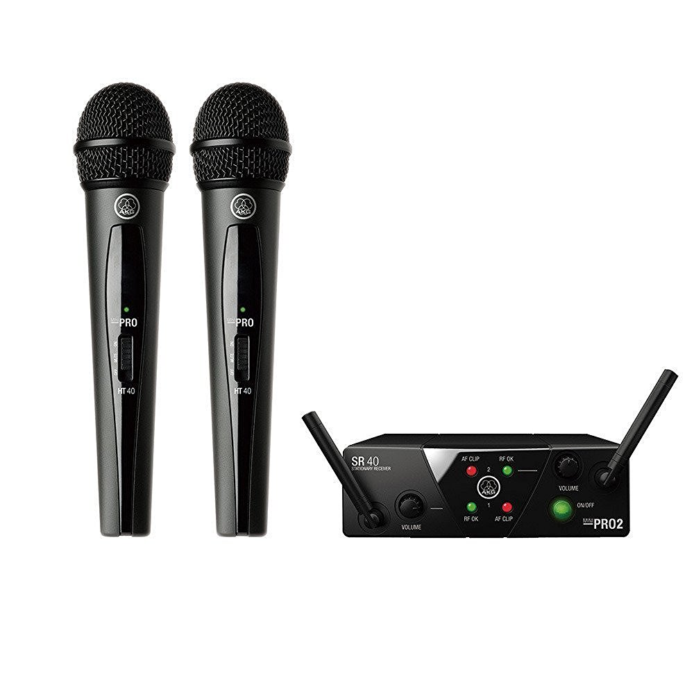 AKG 2チャンネルB帯ワイヤレスシステム WMS40 PRO MINI2 VOCAL SET DUAL【国内正規品】 【送料無料!】