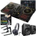 《教則動画付属》PIONEER DJコントローラー DDJ-400-N ヘッドホン PCスタンド スピーカーDM40 DJセット
