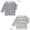 【ダブルB】★Everyday Double_B★ボーダー長袖Tシャツ(70cm-150cm)【10,800円以上で送料無料】