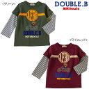 【アウトレット】【ダブルB】オートバイアフロ☆長袖Tシャツ(120cm・130cm)