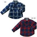 【セール】【ダブルB】星プリントチェックのリバーシブルシャツ(120cm・130cm)