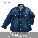 【セール】【ダブルB】ダブルガーゼ素材の長袖シャツ(120cm・130cm)