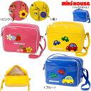 入園準備に♪ミキハウス車&お花のエナメル幼稚園バッグ