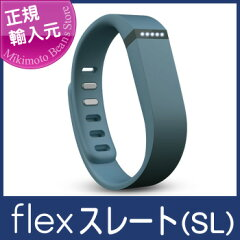 ワイヤレス活動量計+睡眠計リストバンド Fitbit Flex Slate FB401SL-JPN リストバンド2個付(S・Lサイズ各1)