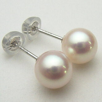 Pt900/K18/K14WG Akoya pearl earrings (SV earrings, charm) ewk-5214 (Oh Akoya pearl Oh here or this Pearl Akoya this Pearl Japanese Pearl Pearl Earrings genuine Pearl Ise Shima directly connected to Pearl 18 Gold Platinum 900 pierced earrings are OK) 05P2