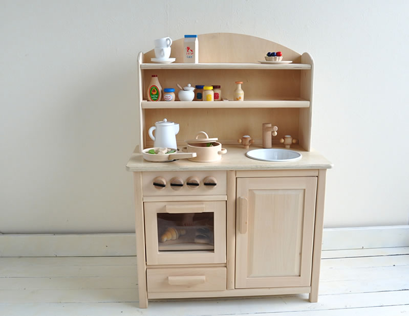 キッチン 木製キッチン : 木製おままごとキッチン ...