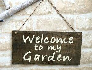 【ポイント2倍!1,000円クーポン配布中】サインプレート Welcome to my garden【ナチュラル 雑貨 インテリア 新生活 おしゃれ かわいい】