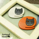 ブローチ 猫 ねこ ネコ アクリル かわいい 黒猫 KS49010
