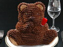 パーティーのサプライズをお約束!!マイルストーン ベアー【送料無料】(バースデーケーキ/誕生日ケーキ/立体ケーキ/デコレーションケーキ/3Dケーキ/クマの立体ケーキ/ギフト)