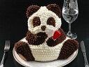 マイルストーン パンダケーキ【送料無料】(立体ケーキ/バースデーケーキ/誕生日ケーキ/デコレーションケーキ/3Dケーキ/ギフト)