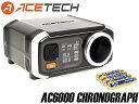ACETECH AC6000 弾速計w/国産メーカーバッテリー◆アルミ製測定口/サイクル測定可能/ショットメモリー機能付き/エーステック