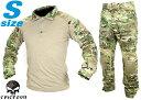 【SEALs装備を再現/本格志向派に】EMERSON GEAR G2 コンバットシャツ&パンツ S-Size/MC◆上下セット装備/パッド標準装備/マルチカム迷彩