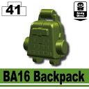 【レゴカスタムパーツ/装備品パーツ】AFM BA16 バックパック/タンクグリーン◆対応ベストのドレスアップに!特殊部隊装備に/装備拡張に/フィグ用