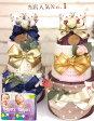 ショッピングおむつケーキ 【おむつケーキ】高級オーガニックコットン「ロロ&ココ」名入れ刺繍対応