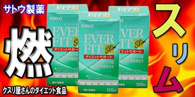【サトウ製薬】エバーフィット スリム120粒×3個セット鬼安☆ダイエットサプリメント【健康食品】