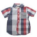 【TAPPET/子供服/タペット/子ども服】 チェック切り替えシャツ