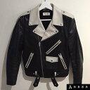 【OUTER SALE】SAINT LAURENT PARISBi-colour leather biker jacketサンローラン パリバイカラー レザー ...